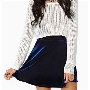 Nasty Gal | Like New | Velvet Skater Skirt